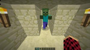 Zombi in einer Höhle